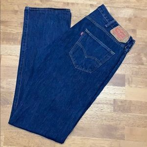 Other - Levi's 501 Darkwash Button Fly Jeans 38x36